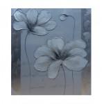 Flor plata/blanca