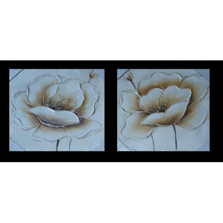 Flor plata/beig