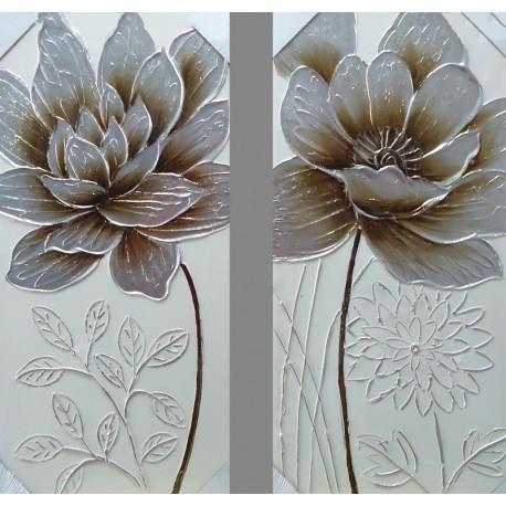 Flor en plata