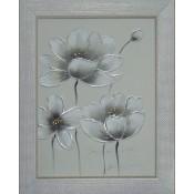 Flor blanca/plata