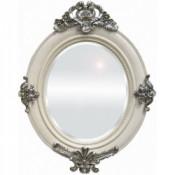 Espejo blanco adornos plata