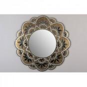 Espejo mosaico redondo oro