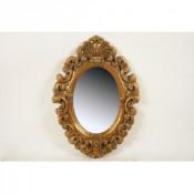 Espejo ovalo oro
