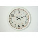 Reloj pared hierro blanco