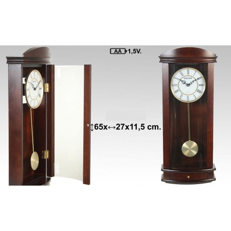 Reloj madera con péndulo