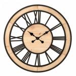 Reloj madera y forja