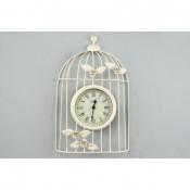 Reloj jaula blanco forja