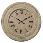 Reloj pared resina blanco decape