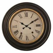 Reloj pared resina negro y oro