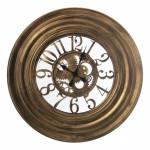 Reloj pared resina dorado