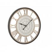 Reloj madera metal pared