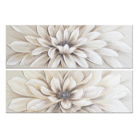 Juego 2 lienzos floral